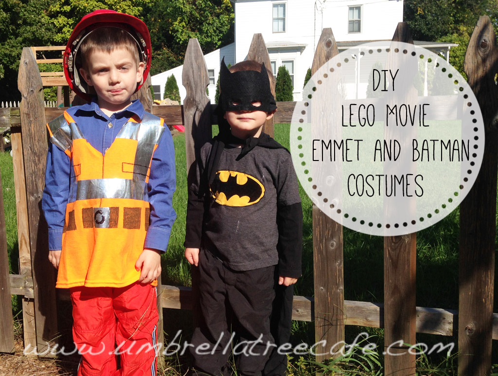 Diy lego movie emmet and batman costumes amy pessolano i could make an entire batman costume out of a black mens t shirt then my kids could be batman and emmet from the lego movie for halloween this year solutioingenieria Gallery