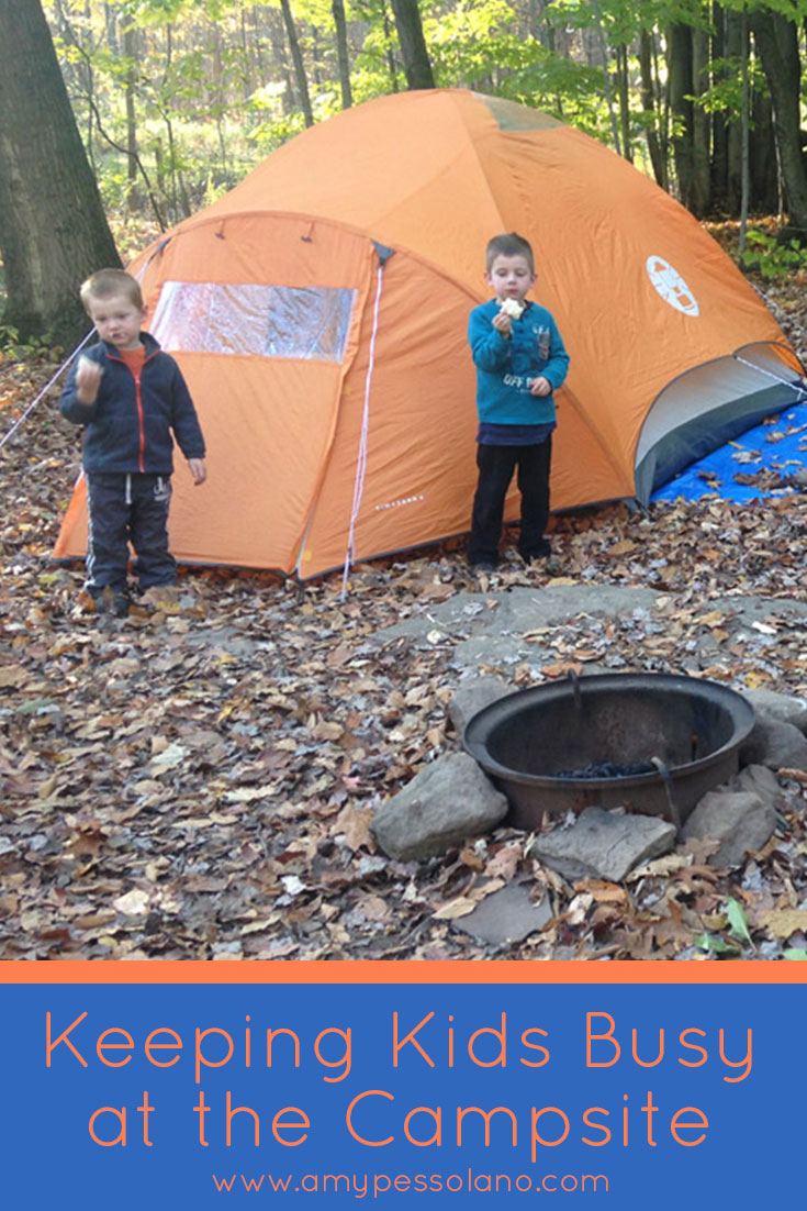 So many great ideas here to keep the kids busy on a family camping trip.