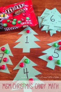 M&M Christmas Tree Math Activity