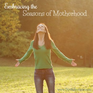 A series of posts about embracing the seasons of motherhood