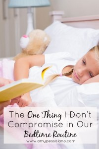 The One Thing I Don't Compromise in Our Bedtime Routine
