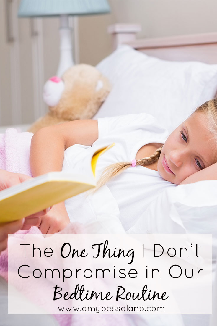 This is a must if you're working on your bedtime routine.