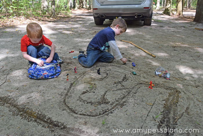 Draw a city in the dirt with a stick.