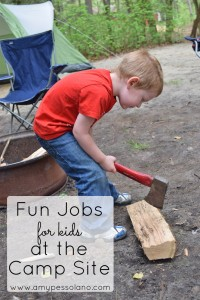 Kids love everything about camping! Even chores
