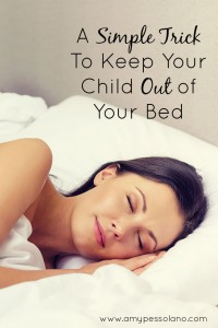 A Simple Trick to Keep Your Child Out of Your Bed
