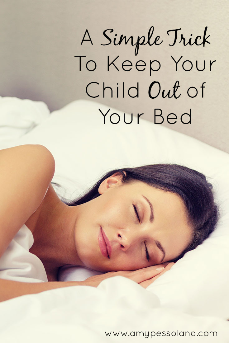 A simple tip to keep your child out of your bed, even if they're still coming in your room at night.