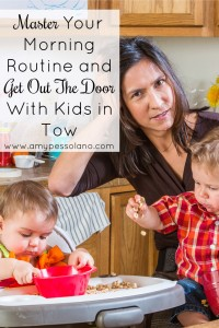 Awesome tips for taking control of your mornings and getting out the door with kids.