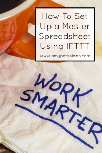 How to Set Up a Master Spreadsheet Using IFTTT