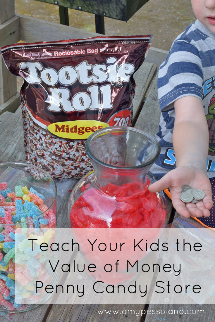 Teach your kids the value of money by making your own penny candy store
