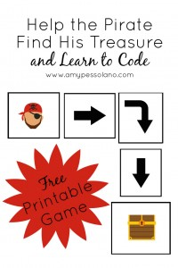 A free printable game to help kids learn to code