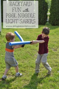 Pool Noodle Light Sabers