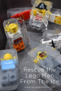 Rescue the Lego Men: Ice Excavation Activity